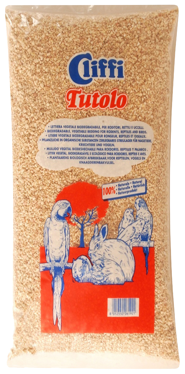 Наполнитель для грызунов Cliffi Tutolo Органик ACRS018