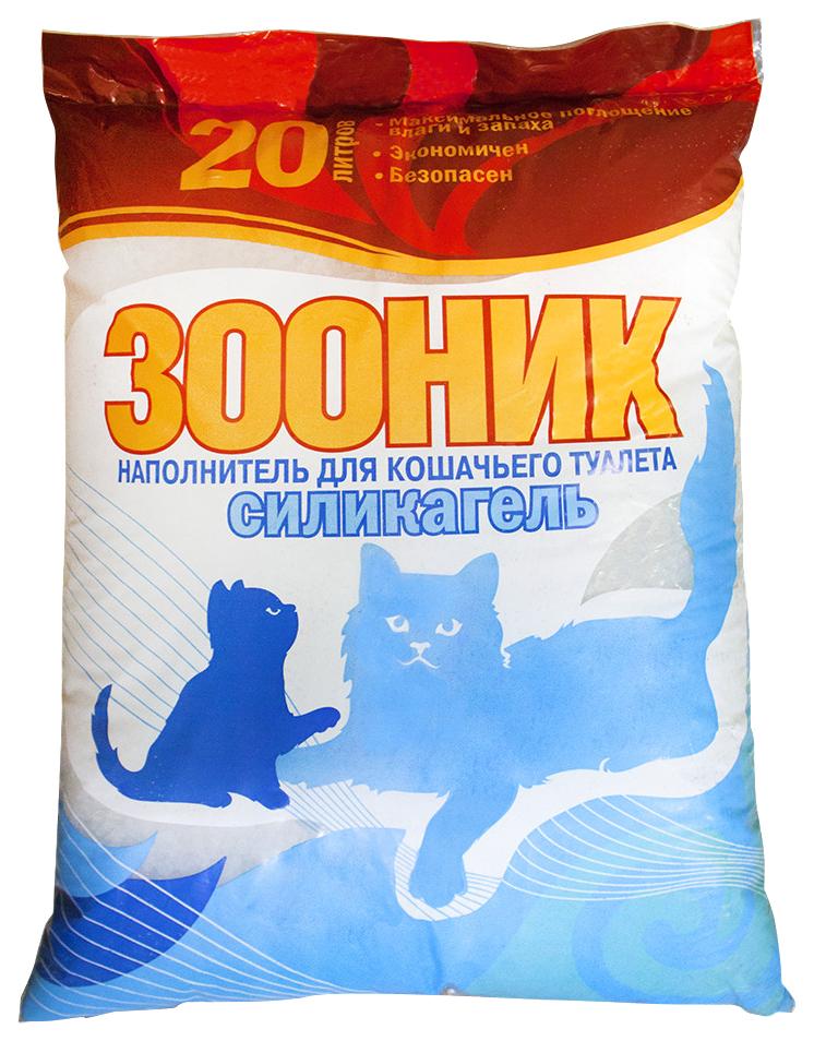 Силикагелевый наполнитель туалета для кошек Зооник Силикагель 20 л