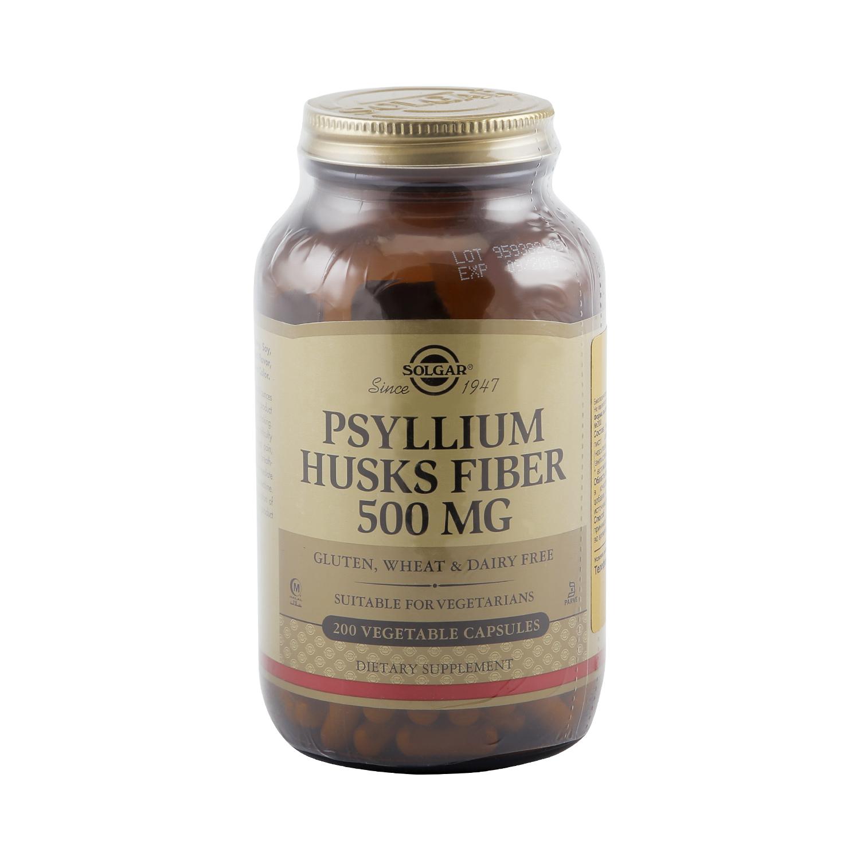 Псиллиум Solgar клетчатка кожицы листа 500 мг 200 капсул