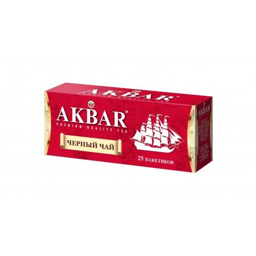 Чай черный Akbar корабль 25 пакетиков фото