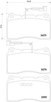 Колодки тормозные дисковые передние alfa romeo gt 03- Textar 2427301 фото