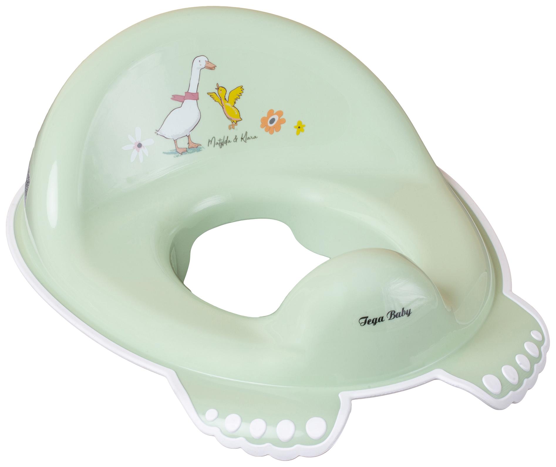 Купить Накладка Tega Baby на унитаз Лесная сказка антискользящая зеленый, Детская накладка на унитаз