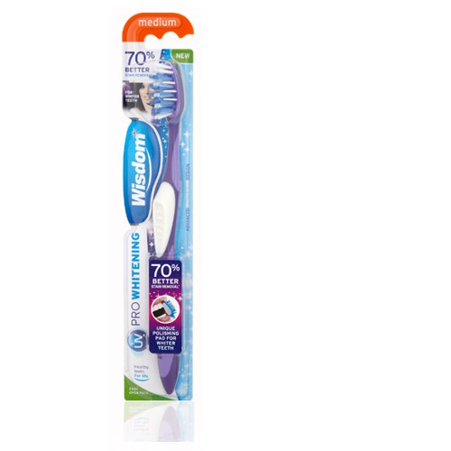 Зубная щетка Wisdom Whitening Expert Med Single средней жесткости