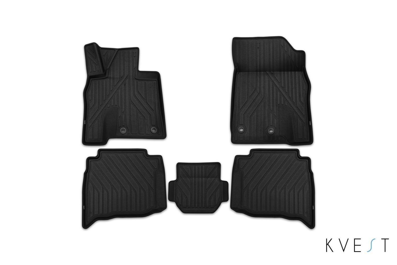 Коврики в салон KVEST для LEXUS RX, 2015, 4 шт. полистар, черный, черный