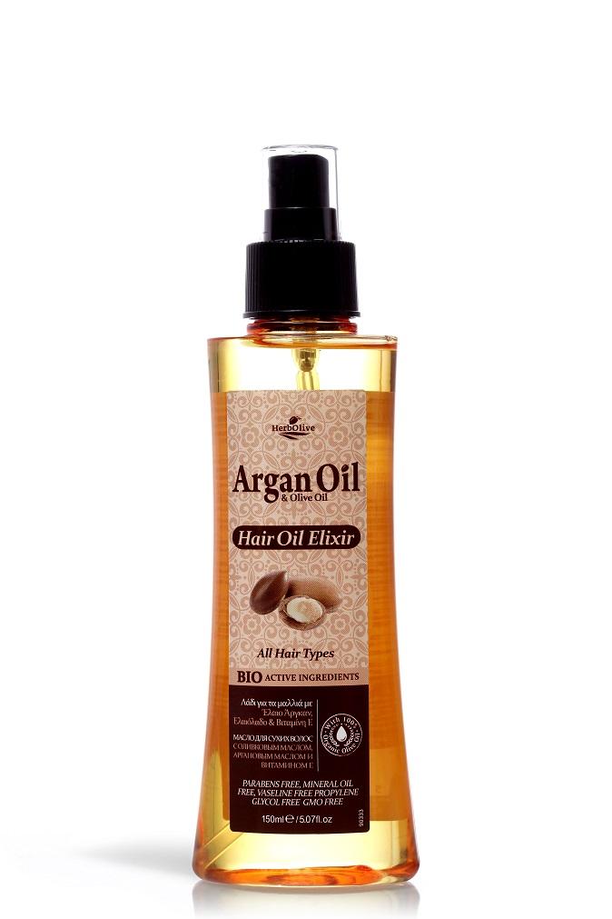 Масло эликсир для волос Arganoil с маслом
