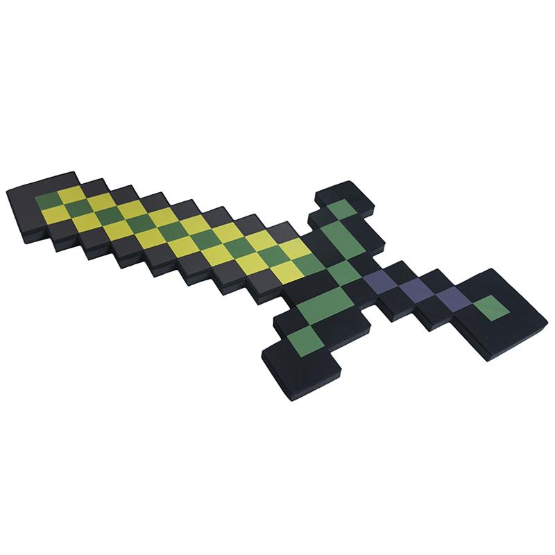Купить Меч 8Бит Pixel Crew золотой пиксельный 60см, Мечи, кинжалы и копья