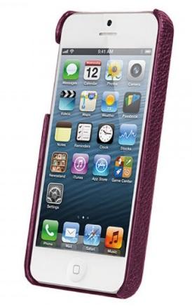 Чехол Vetti Craft Leather Snap Cover для iPhone 5/5S/SE Purple