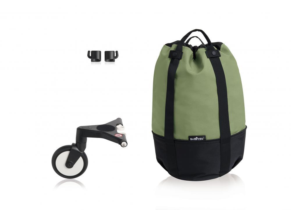 Купить Сумка для коляски Babyzen yoyo+ с колесом-платформой peppermint, Сумки и пеналы для коляски