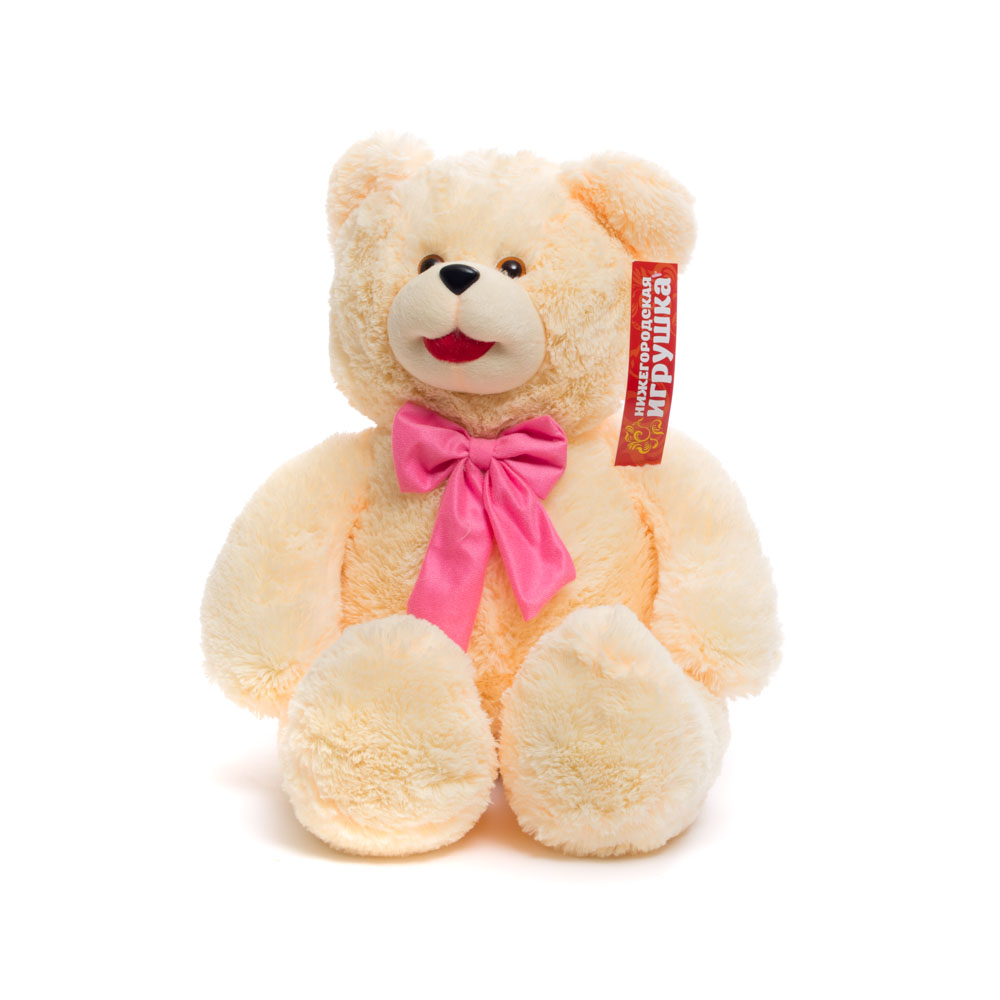 Купить Мягкая игрушка Медведь с бантом малый 70 см Нижегородская игрушка См-600-5, Мягкие игрушки животные