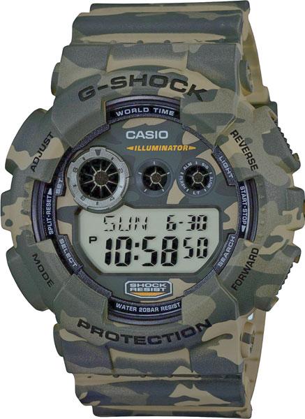 Японские наручные часы Casio G-Shock GD-120CM-5E с хронографом фото