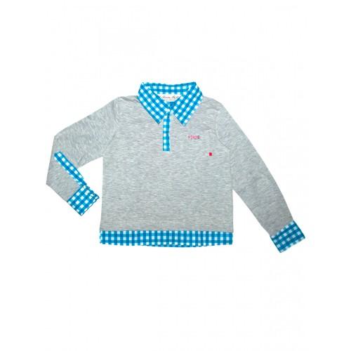 Рубашка-поло Bon&Bon 543 серый Р.104