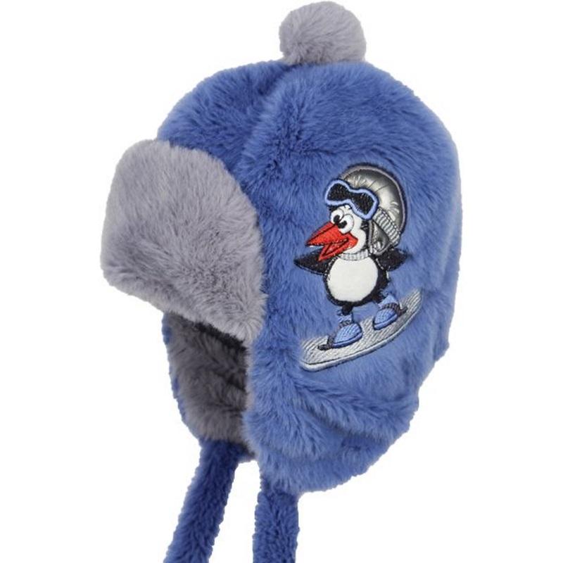 Шапка Olle Пингвин серый/синий р. GL001031949