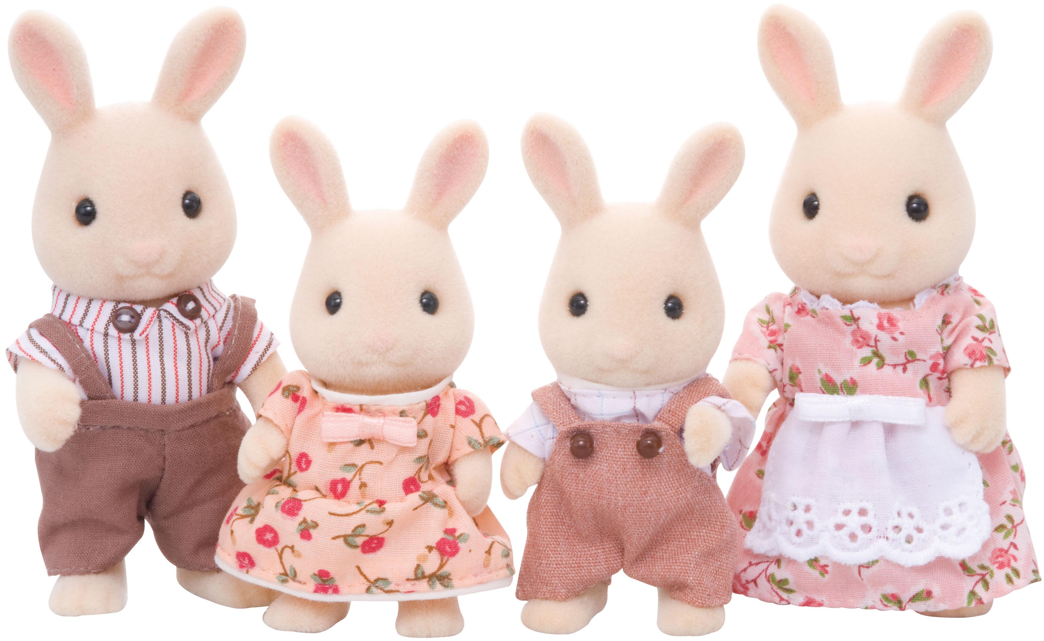 Игровой набор sylvanian families семья молочных кроликов