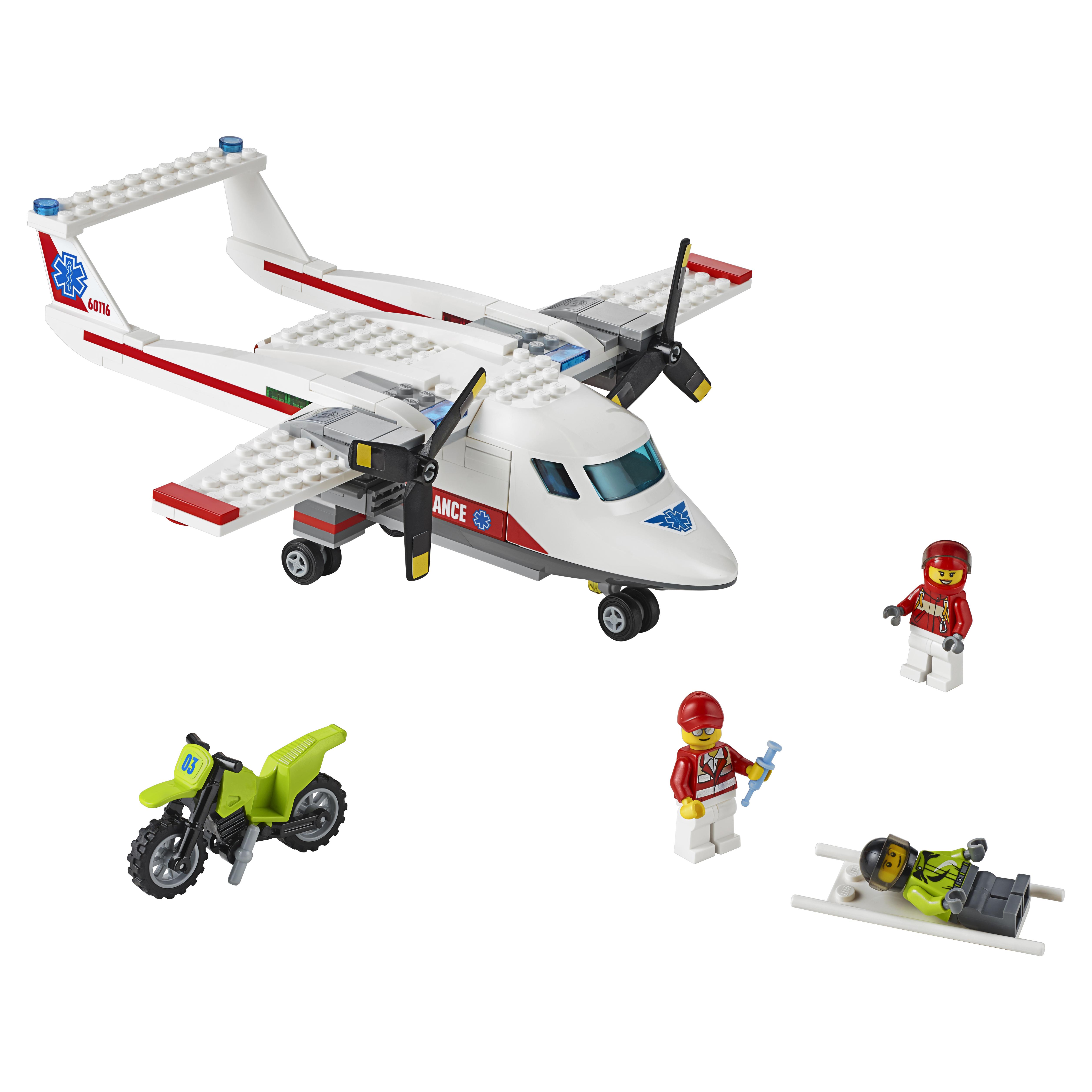 Конструктор LEGO City Great Vehicles Самолет скорой помощи (60116) фото