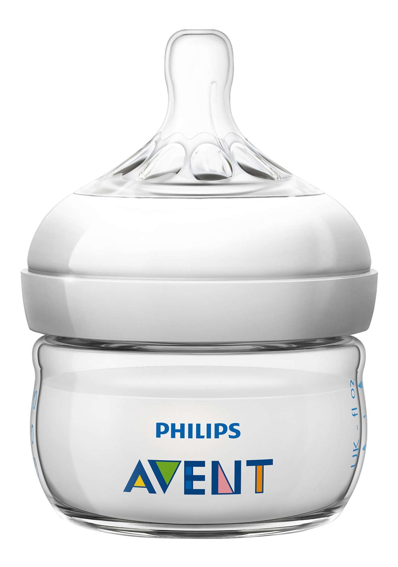 Детская бутылочка Philips Avent Natural SCF699/17, 60 мл, 1 шт., 0 мес.+