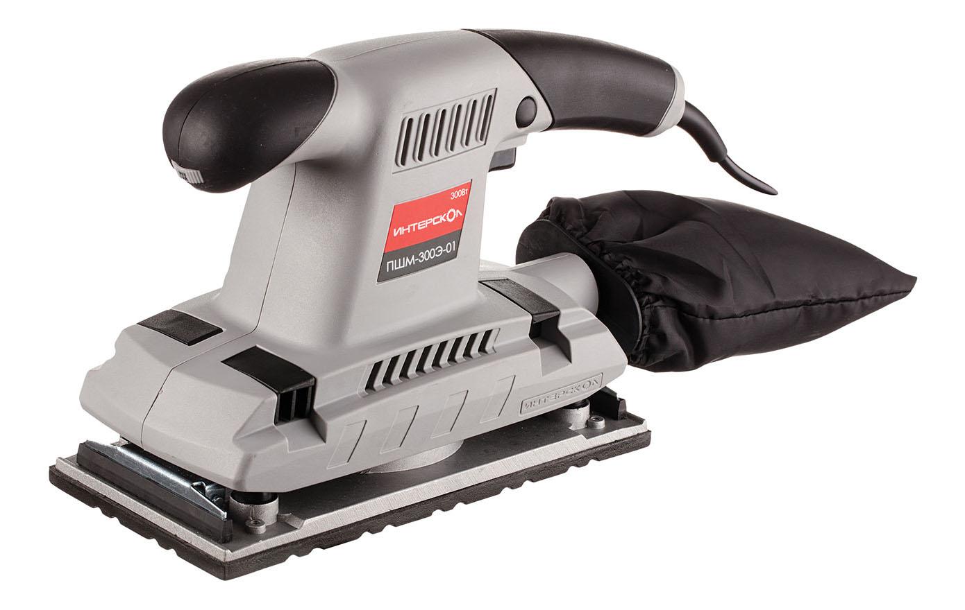 Сетевая вибрационная шлифовальная машина Интерскол ПШМ-115/300Э 30.1.1.10