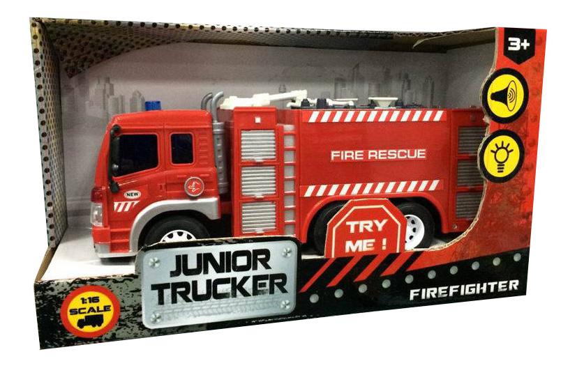 Купить Пожарная, Машина пожарная Dave Toy Junior Trucker 1:16, Dave Toys, Спецслужбы