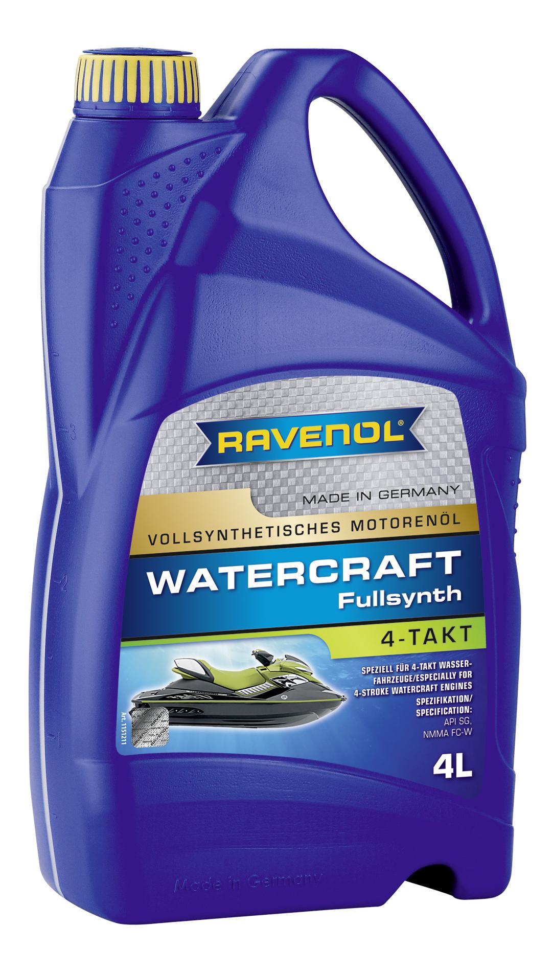 Моторное масло Ravenol Watercraft 4-Takt 10W-40 4л