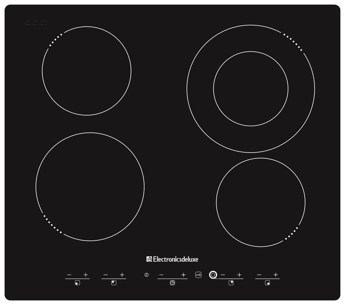 Встраиваемая варочная панель индукционная Electronicsdeluxe 595204.01ЭВИ Black