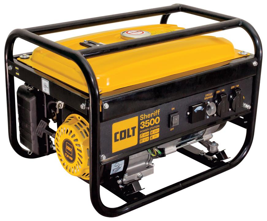 Бензиновый генератор Colt Sheriff 3500 желтый 499202