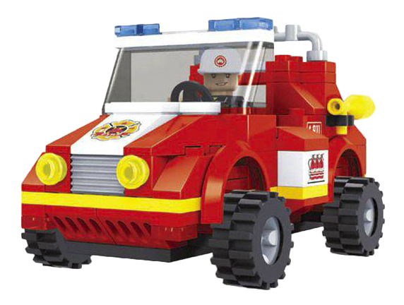 Купить Конструктор пластиковый Ausini Пожарный автомобиль, Конструкторы пластмассовые