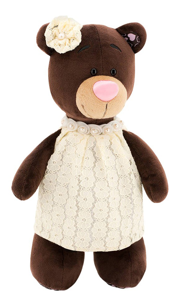 Мягкая игрушка Orange Toys Медведь Milk в кружевном платье 25 см
