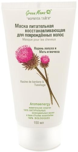 Купить Маска для волос GREEN MAMA Питательная восстанавливающая для поврежденных волос, 150 мл