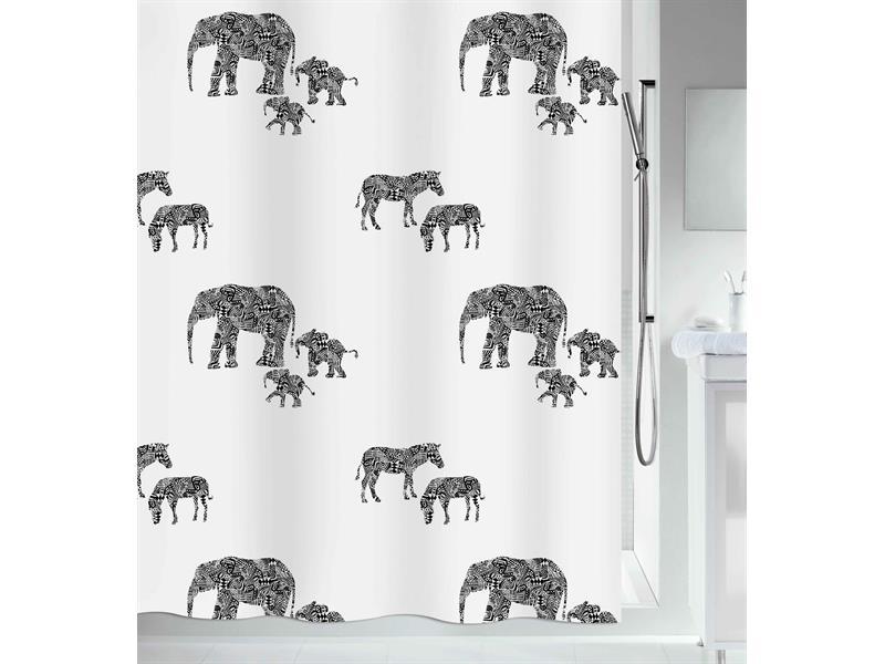 Штора декоративная для ванной комнаты Spirella Serengeti