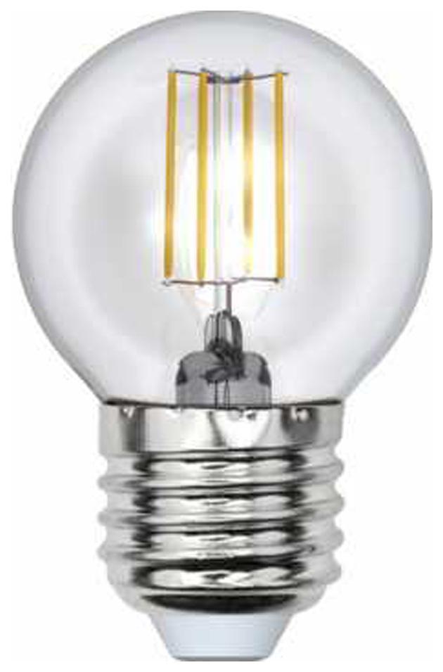 Лампа светодиодная (UL-00001370) E27 6W 4000K шар прозрачный LED-G45-6W/NW/E27/CL PLS02WH