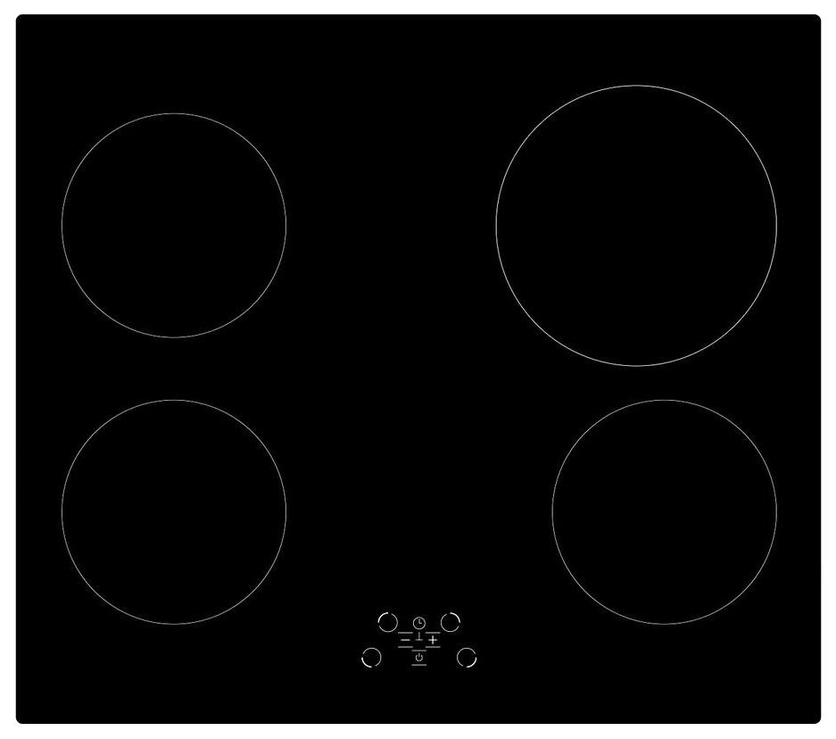Встраиваемая варочная панель электрическая Simfer H60D14B011 Black