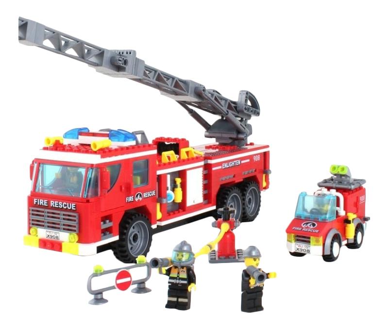 Купить Конструктор пластиковый Enlighten Пожарная машина, Enlighten Brick,
