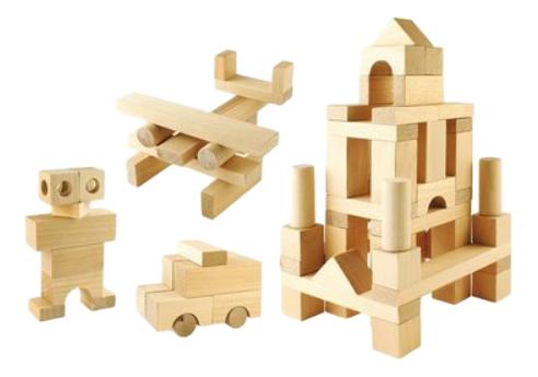 Конструктор деревянный Пелси Строительный набор №2