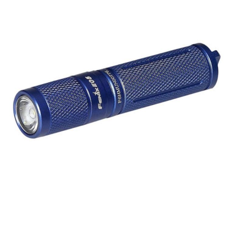 Туристический фонарь Fenix E05 синий, 3 режима фото