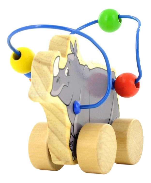 Купить Каталка детская Мир Деревянных Игрушек Носорог, Игрушечные машинки