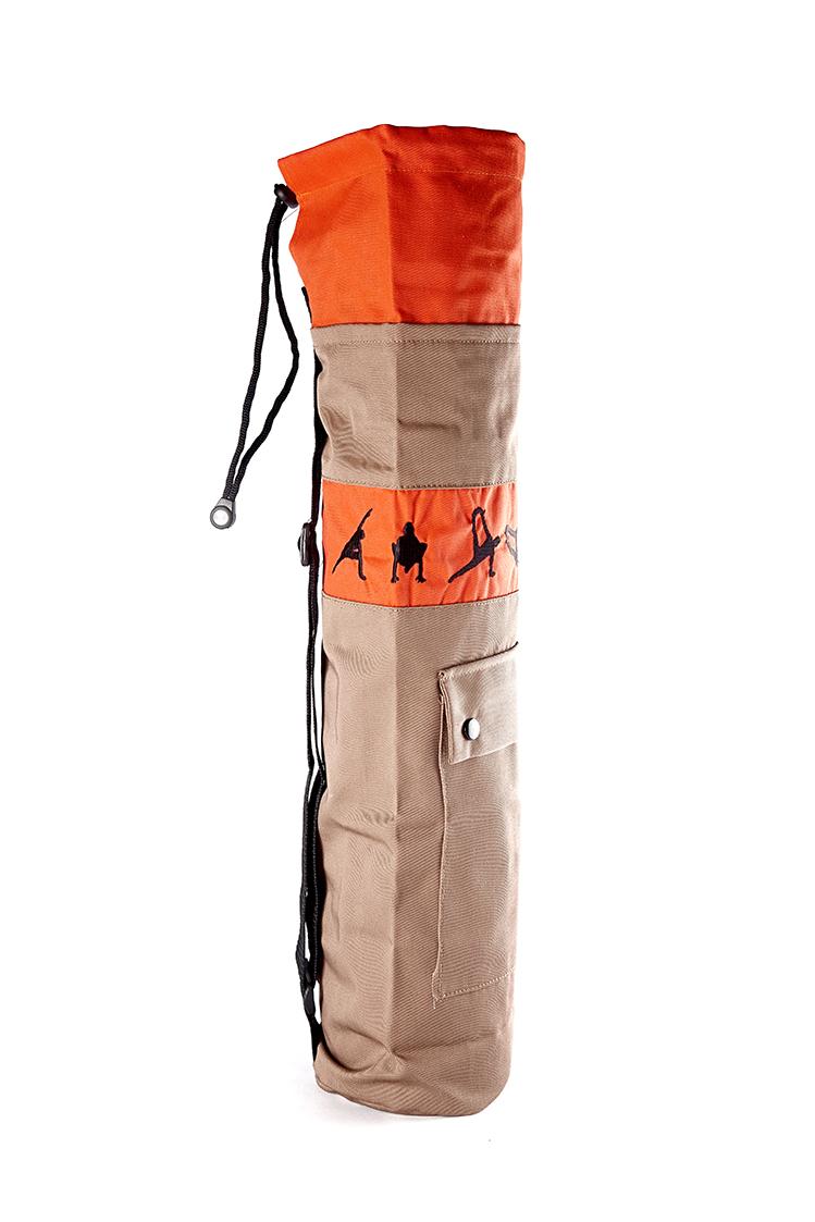 Чехол для йога-коврика RamaYoga Йога 511344 70 см оранжевый фото