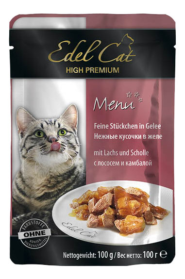 Влажный корм для кошек Edel Cat, лосось,