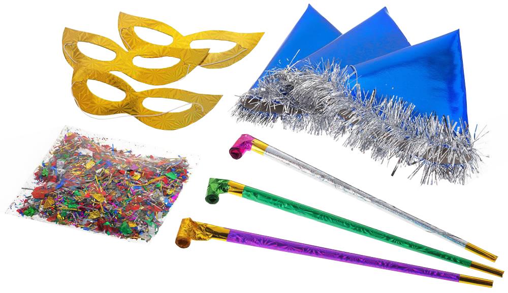 Аксессуар для карнавала Snowmen набор 10 предметов