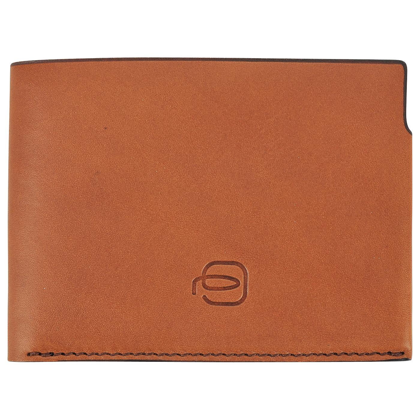 Мужское портмоне из гладкой кожи Piquadro PP4248BM/CUBL