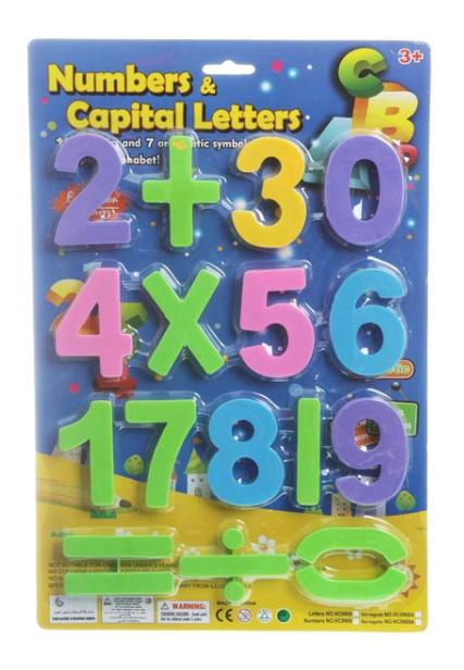 Набор пластиковых цифр Numbers & Capital Letters Gratwest Н74493