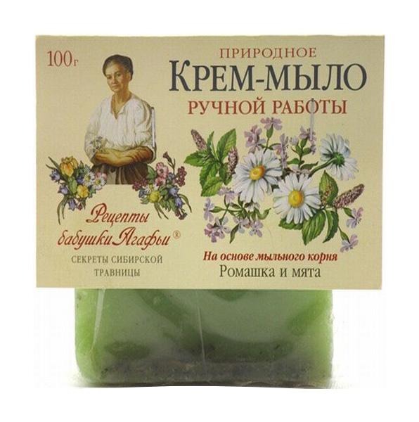 Косметическое мыло Рецепты бабушки Агафьи Ромашка и мята 100 г