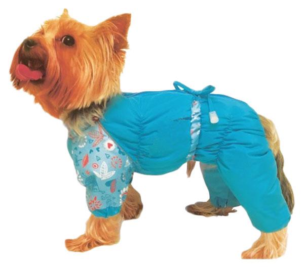 Комбинезон для собак ТУЗИК №2, женский, в ассортименте, длина спины 24 см