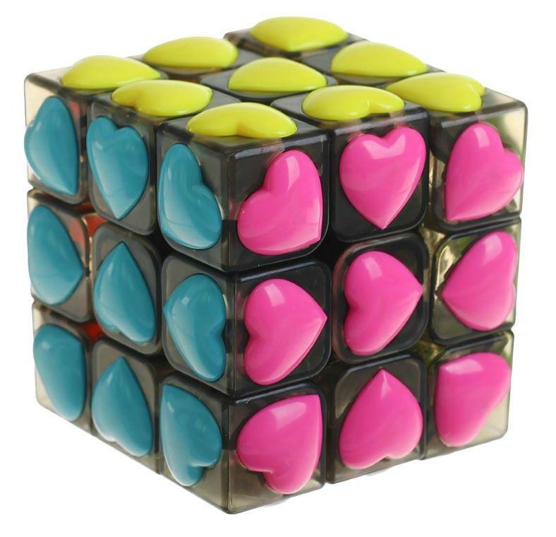 Купить Головоломка Наша Игрушка Куб Сердечки 6 см ZYF-0008-4, Наша игрушка, Игрушки головоломки