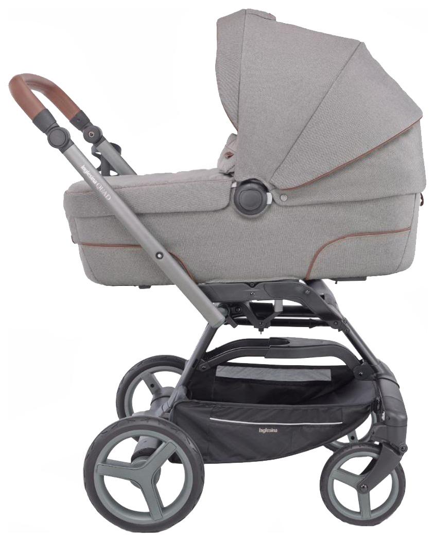 Купить Коляска 2 в 1 Inglesina Quad System на шасси Quad Titanium Black - Cognac, Детские коляски 2 в 1