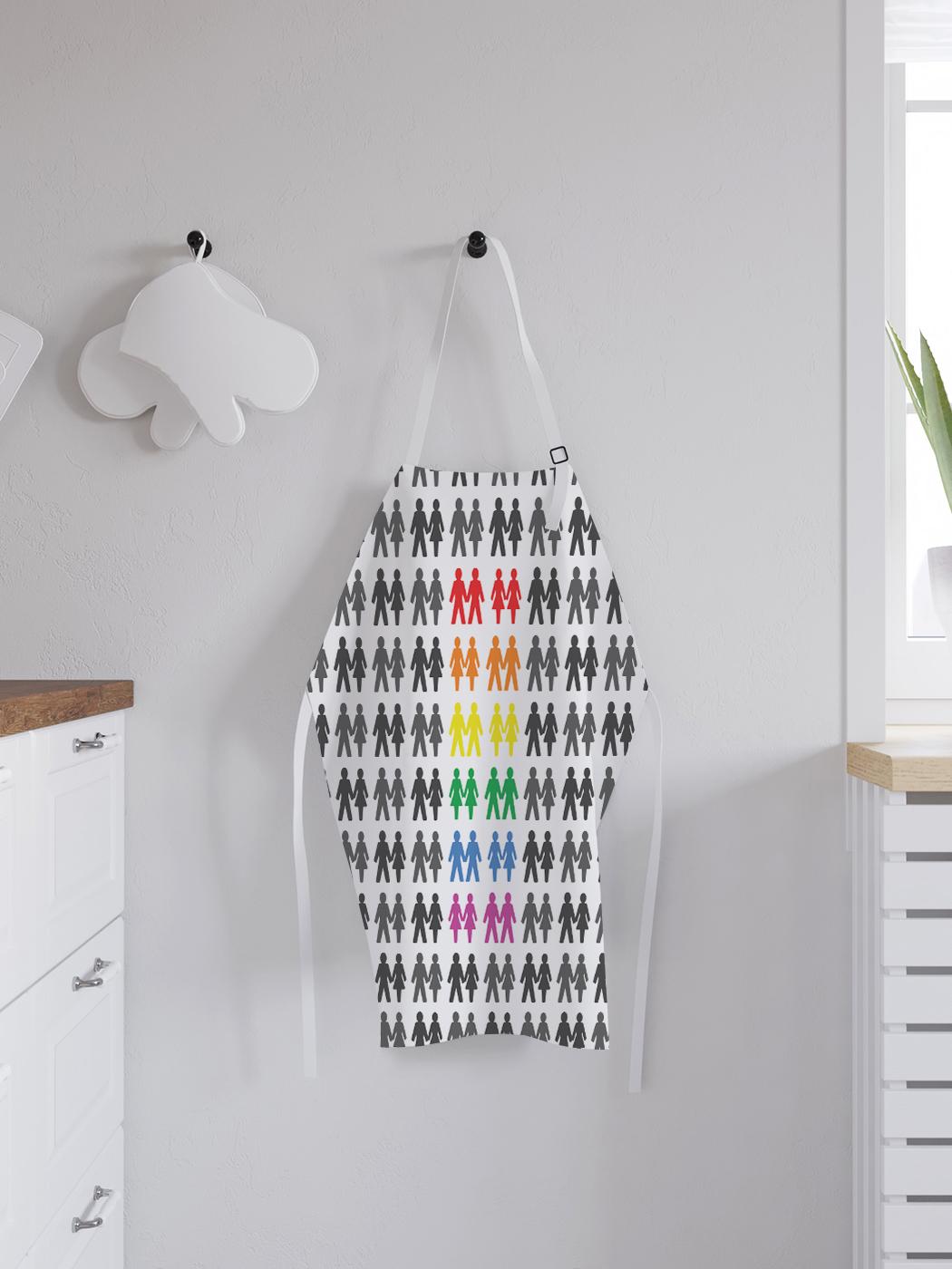 Фартук кухонный регулируемый «Радужный взгляд», универсальный размер