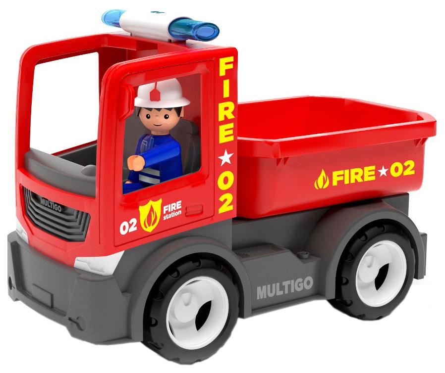 Купить Пожарный грузовик с водителем, Efko, Машинки-трансформеры