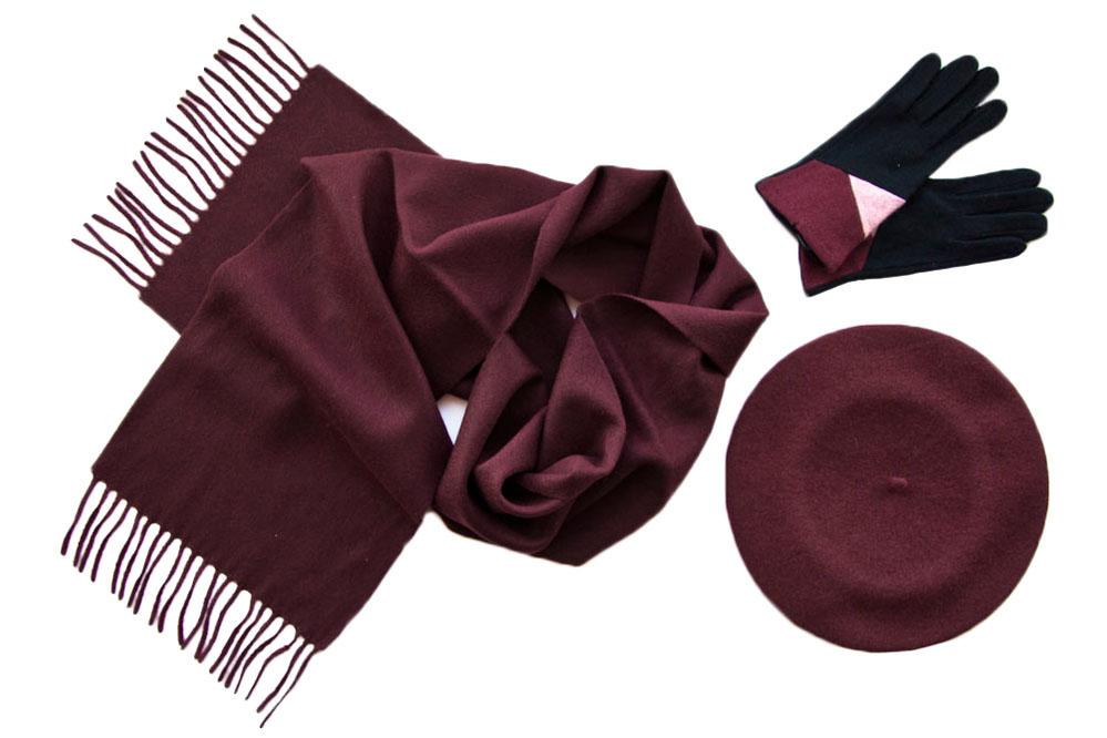 Комплект (берет, шарф, перчатки) Tonak/Tranini 181 красный фото
