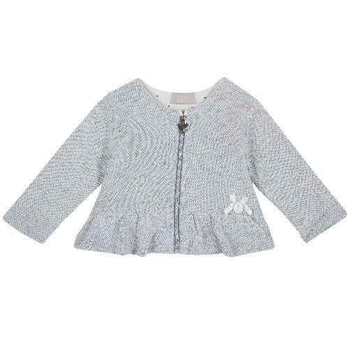 Купить 9096896, Кардиган Chicco для девочек р.86 цв.светло-серый, Кофточки, футболки для новорожденных