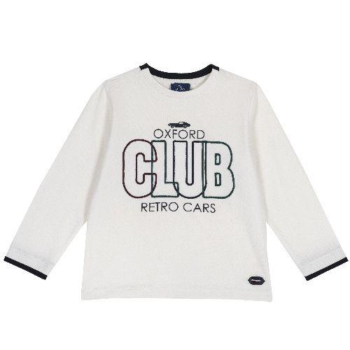 Купить 9006830, Лонгслив Chicco Club для мальчиков р. 128 цв.белый,