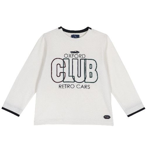 Купить 9006830, Лонгслив Chicco Club для мальчиков р. 122 цв.белый,