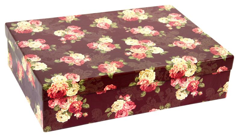 Набор подарочных картонных коробок цветочный принт, 5 шт. от 32x20x8 см до 40x28x10 см